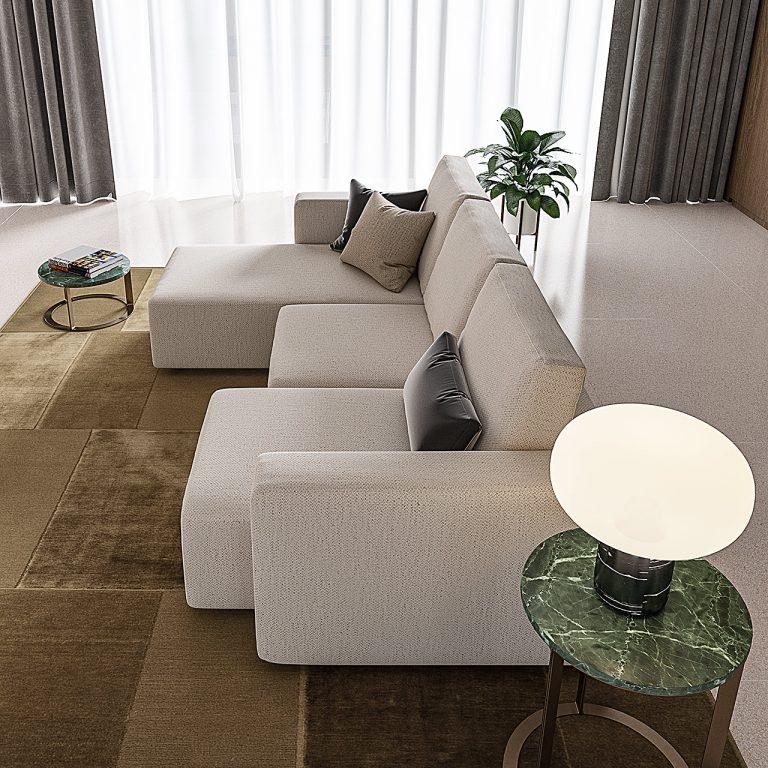 Sofas with sliding seats MorbidLine Salotti