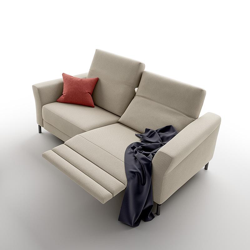 divano relax elettrico wilson tessuto lavabile